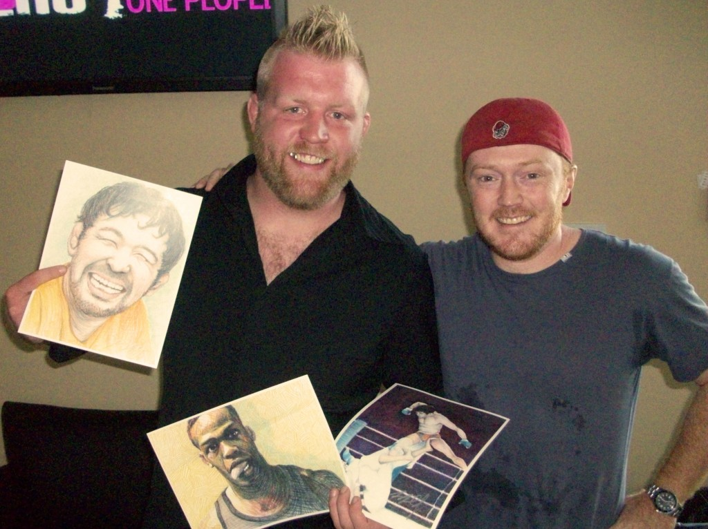 Giving some prints to UFC vet Justin Wren