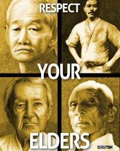 Elders poster sepia